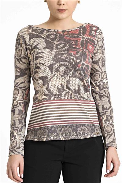 Blusa de visco tricô