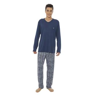 Pijama comprido de microfibra amni