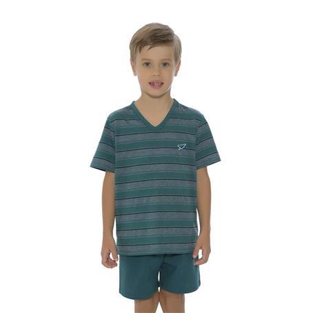 Pijama infantil malha degrade e 100% algodão