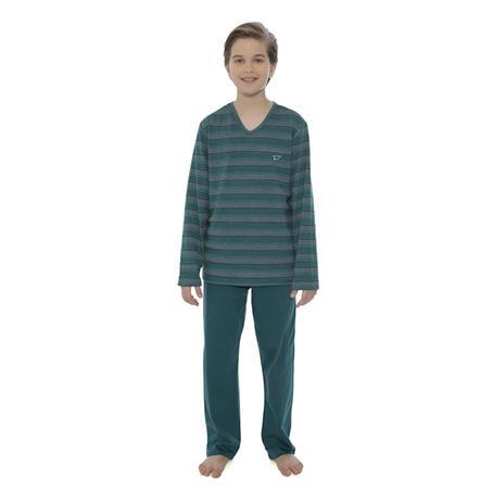 Pijama infantil comprido malha degrade e 100% algodão
