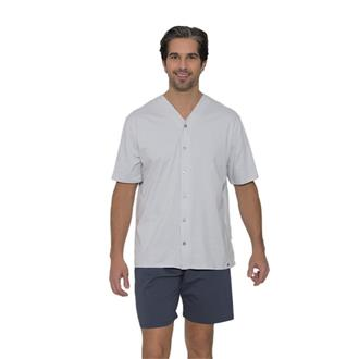 Pijama aberto de malha 100% algodão
