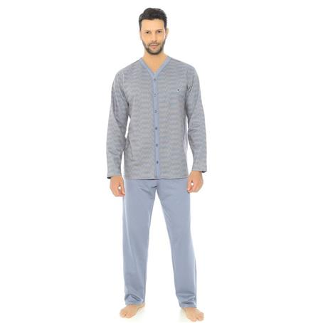 Pijama comprido aberto de moletinho