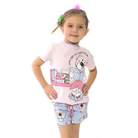 Pijama infantil de malha 100% algodão