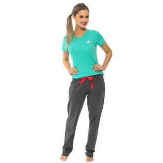Pijama manga curta de bionature e malha