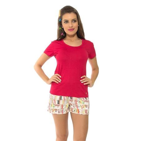 Pijama curto viscose e charmeuse prime