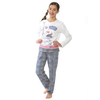 Pijama juvenil comprido de moletinho