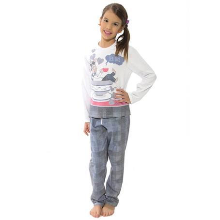 Pijama infantil comprido de moletinho