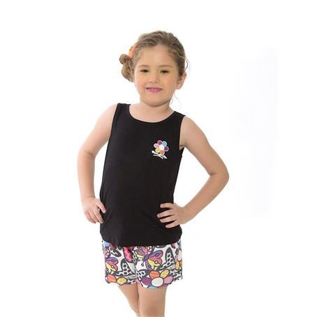 Pijama infantil regata de viscose e microfibra