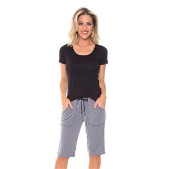 Pijama manga curta de viscose e microskin