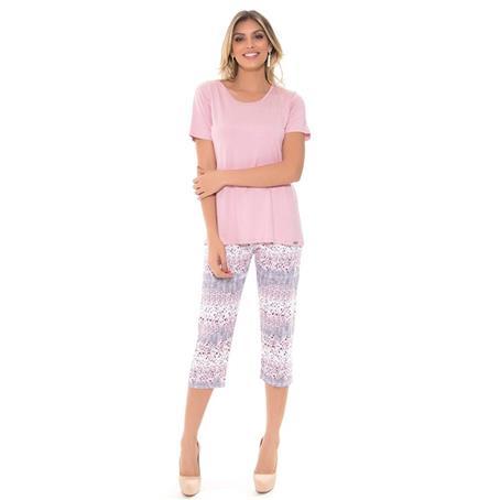 Pijama de viscose e microfibra amni