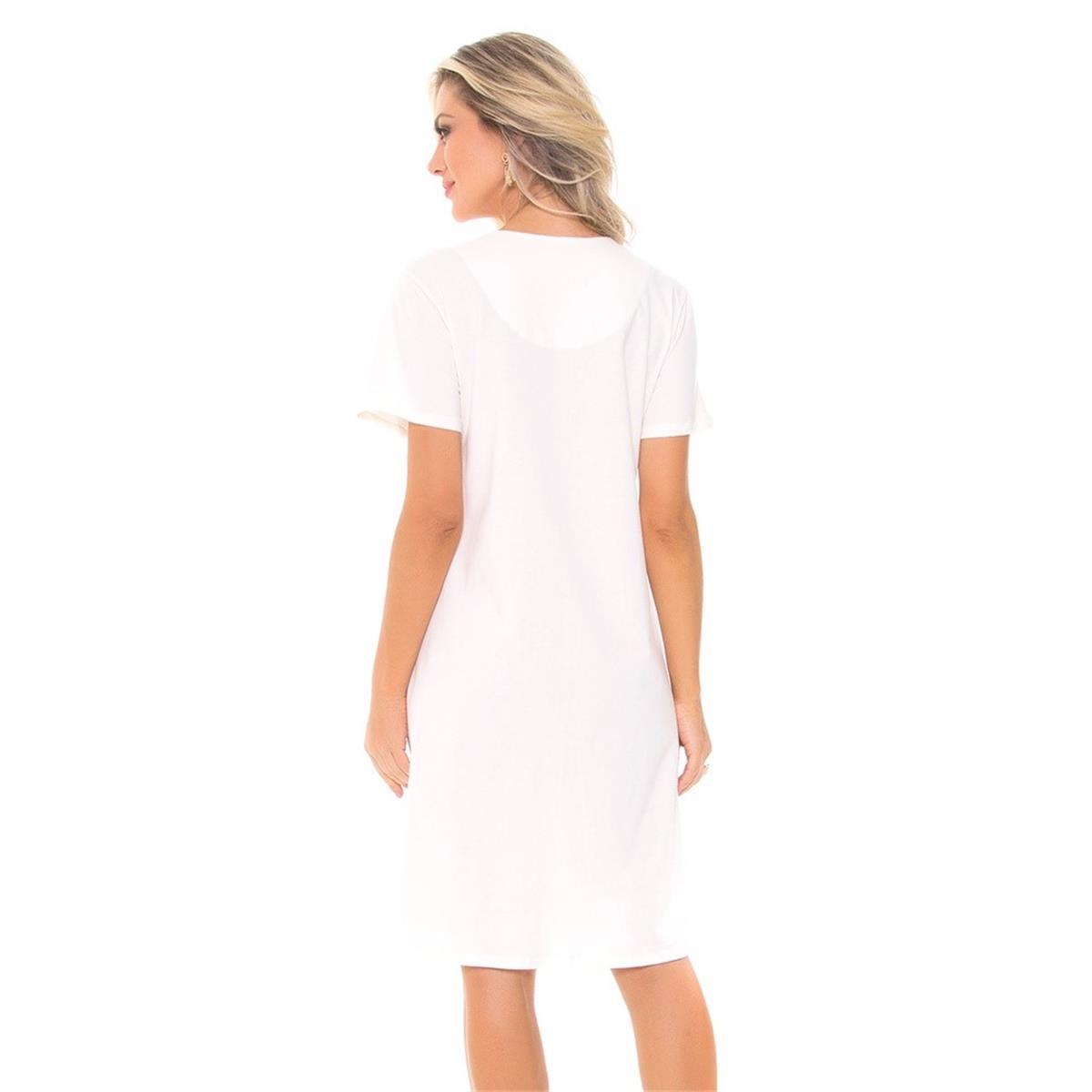 afa1c5790e7d26 Camisola aberta de malha 100% algodão - Recco Lingerie
