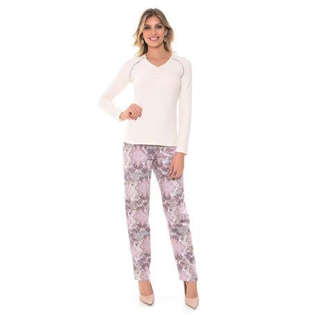 Pijama de cotton camurcado e moletinho