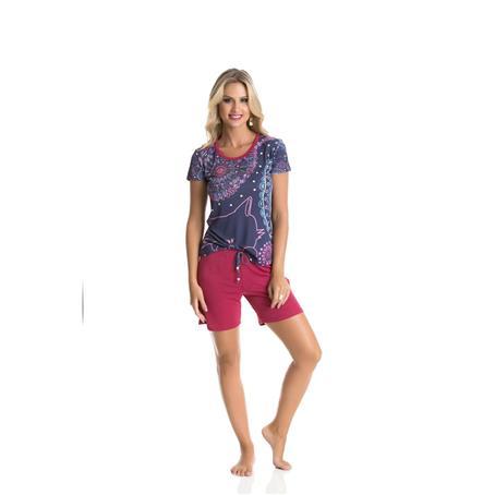 Pijama curto de microfibra