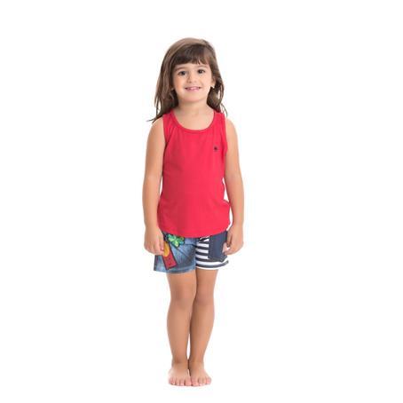 Pijama infantil de viscose e viscoprint