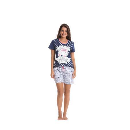 Pijama curto de malha 100% algodão