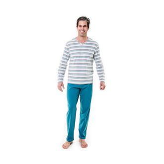 Pijama longo de malha comfort e 100% algodão