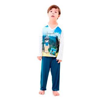 Pijama longo infantil de viscose