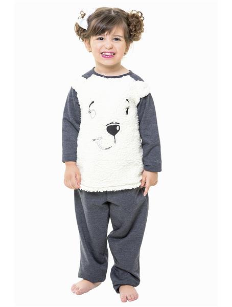 Pijama infantil comprido moletinho