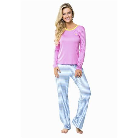 Pijama comprido viscose e viscoflex
