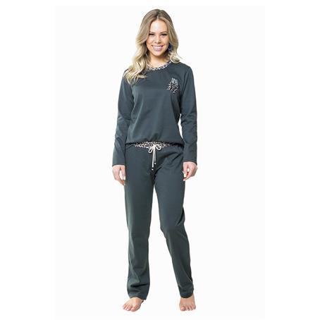 Pijama comprido de moletinho peletizado