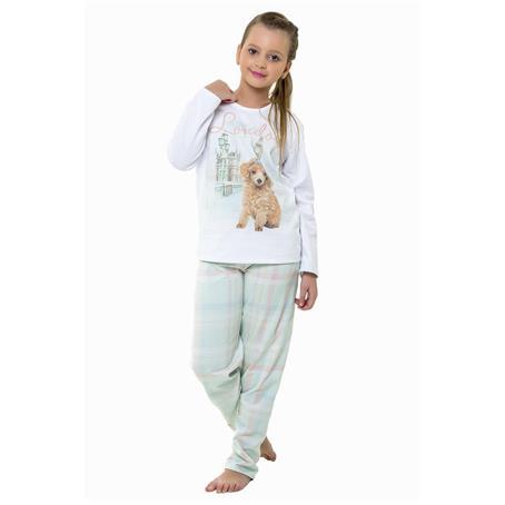 Pijama juvenil comprido moletinho