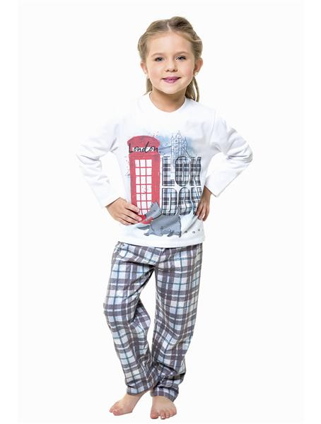 Pijama infantil comprido peletizado