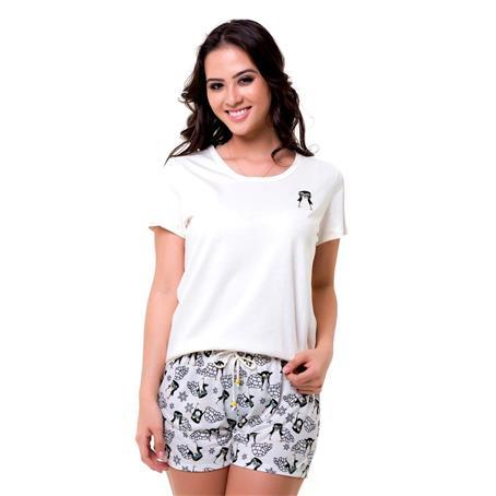 Pijama curto malha 100% algodão
