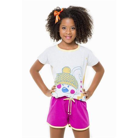 Pijama juvenil de malha 100% algodão