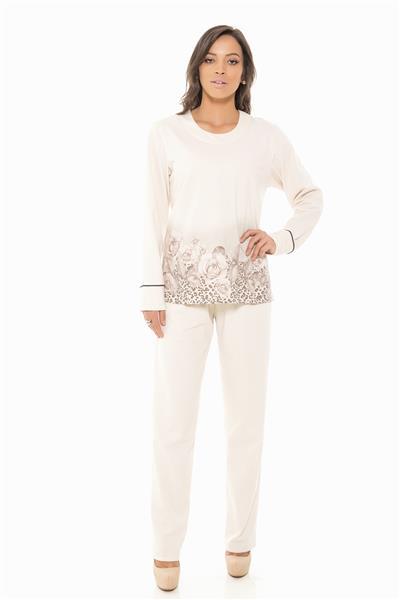 Pijama longo de moletinho