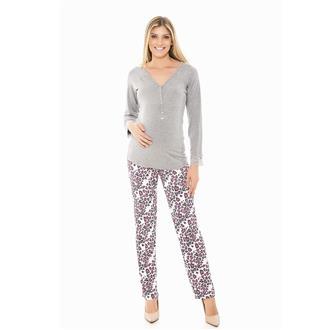 Pijama longo de viscose e microfibra