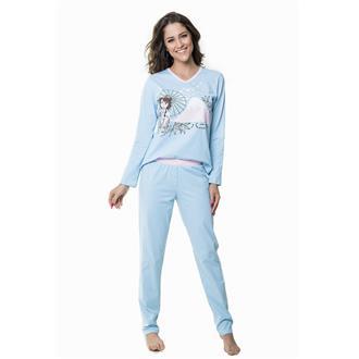 Pijama comprido de malha 100% algodão