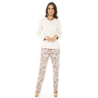 Pijama comprido de moletinho