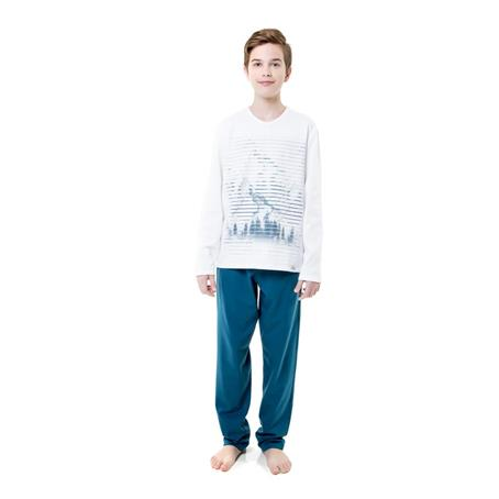 Pijama longo juvenil moletinho