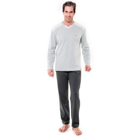 Pijama longo suede e moletinho