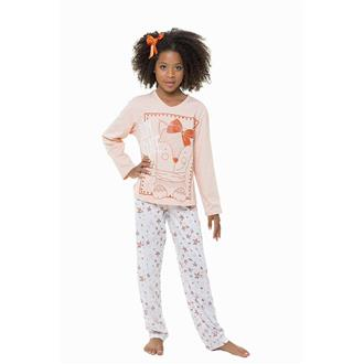 Pijama juvenil comprido malha