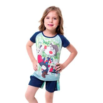 Pijama Infantil Curto Microfibra