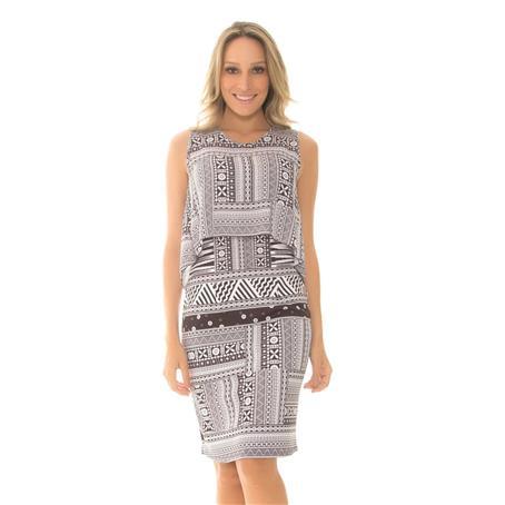 Vestido crepe elegance e neoprene