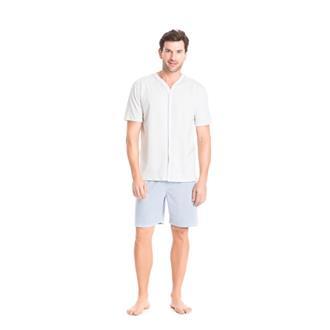 Pijama malha 100% malha listrado