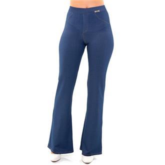 Calca flare jeans stone