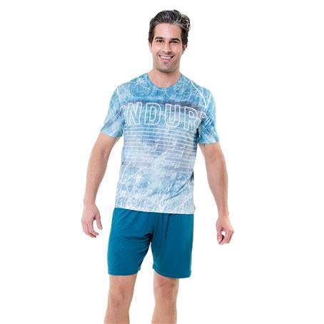Pijama em viscoprint e viscose