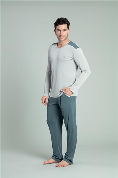 Pijama comprido sport de microfibra