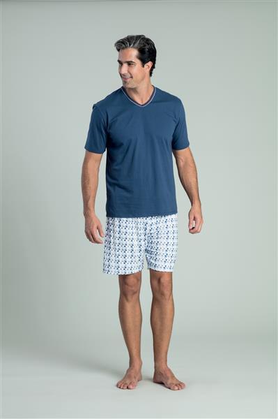 Pijama de malha 100% algodão e touch