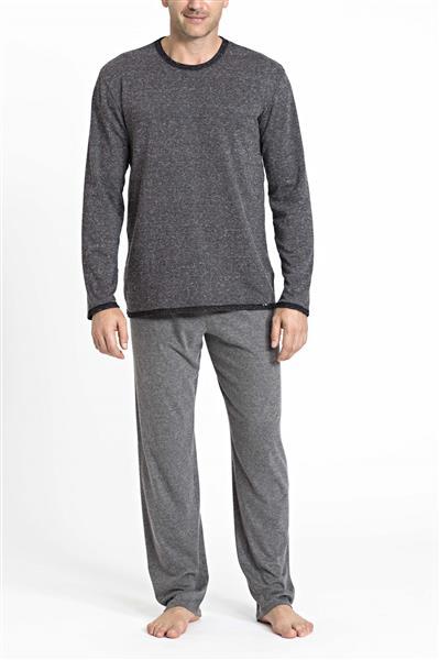 Pijama comprido de malha tricot e confort