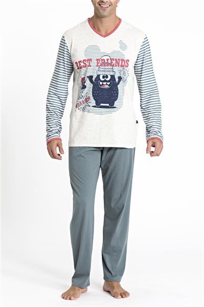 Pijama comprido de malha algodão