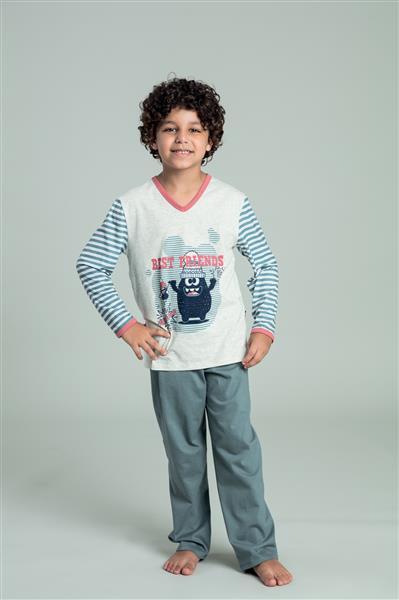 Pijama comprido infantil de malha