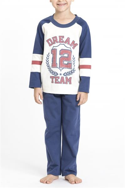 Pijama comprido infantil flanelado
