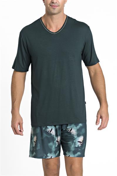 Pijama de viscose e malha touch