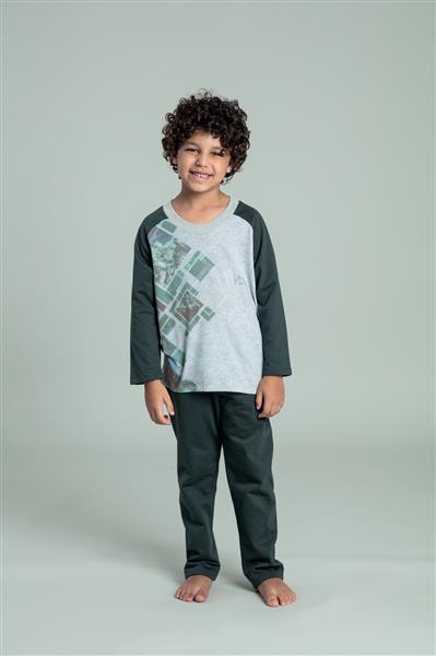 Pijama longo infantil flanelado
