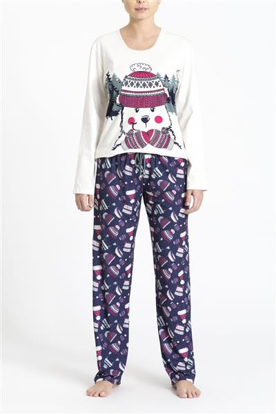Pijama comprido malha de algodão