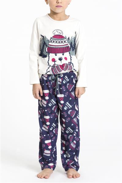 Pijama infantil comprido de malha